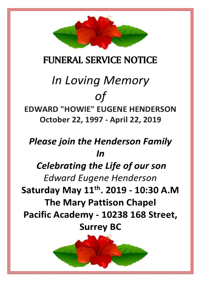 Howie Henderson Celebration of Life
